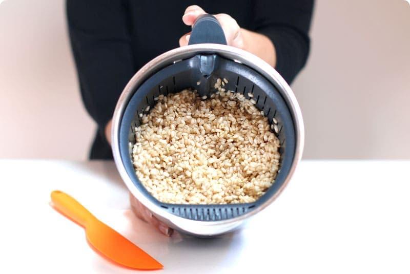 Calorias 100 gramos arroz integral cocido