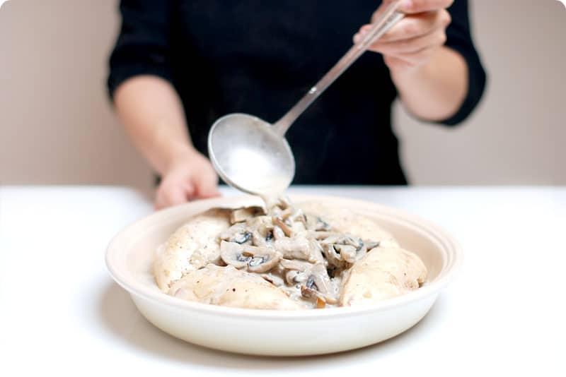 Pechugas de pollo a la crema sin Thermomix