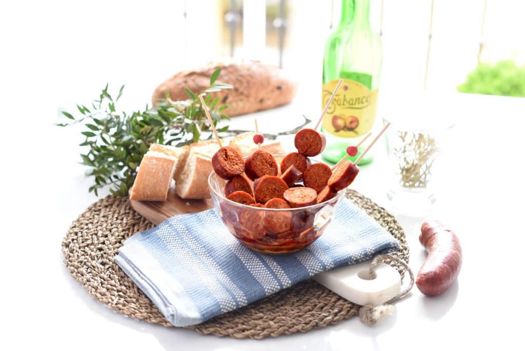 Chorizos a la sidra, facilísimos y deliciosos