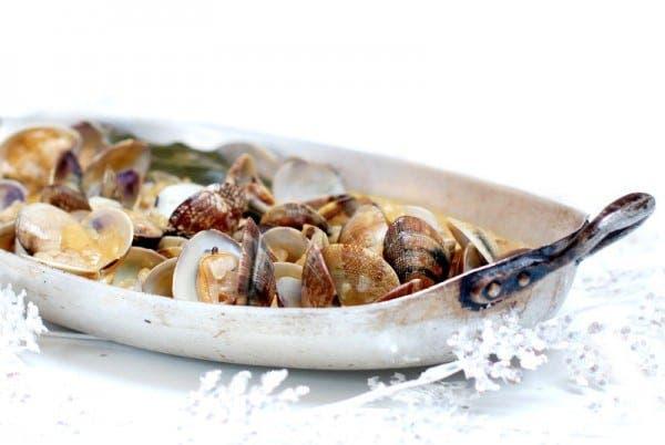 Almejas a la marinera, receta tradicional