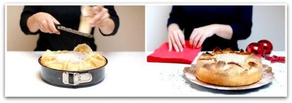 Timbal de crepês con pollo y espinacas