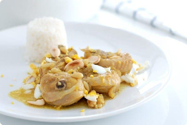 Pollo en pepitoria, preparada en cocotte