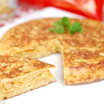 Tortilla española con patatas de bolsa