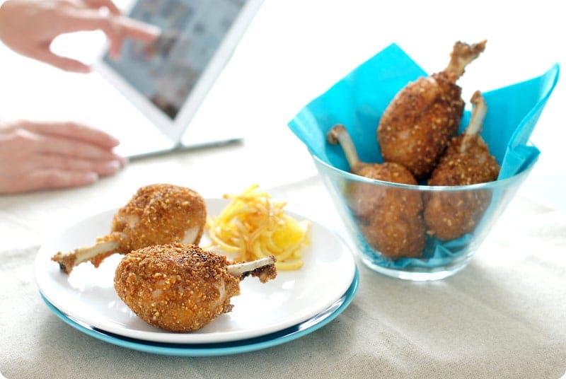 Jamoncitos de pollo rebozados en kikos