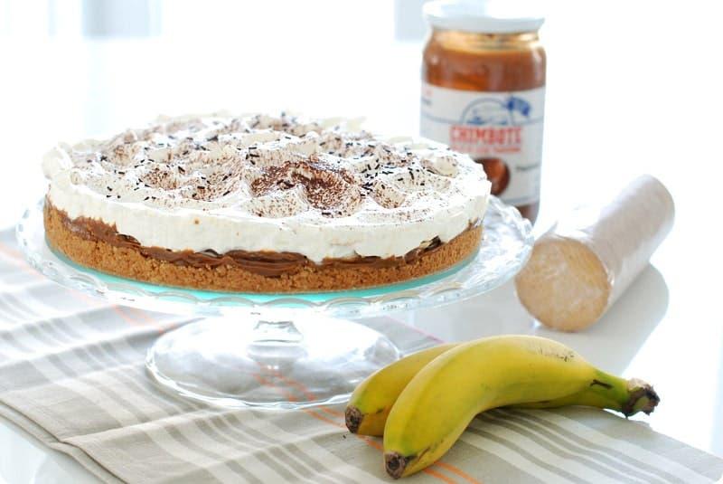 Banoffee, la tarta de dulce de leche y plátano