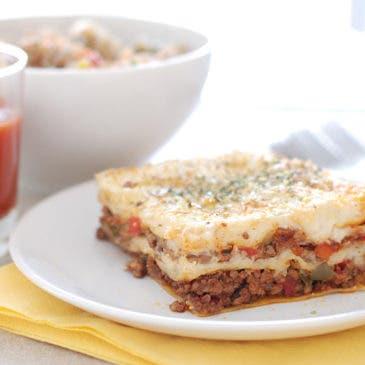 Lasaña de carne y tomate