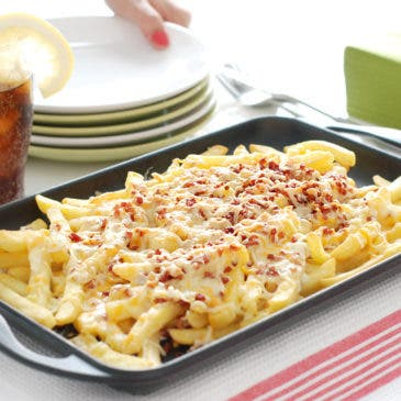 Patatas estilo Foster's, bacon & cheese fries