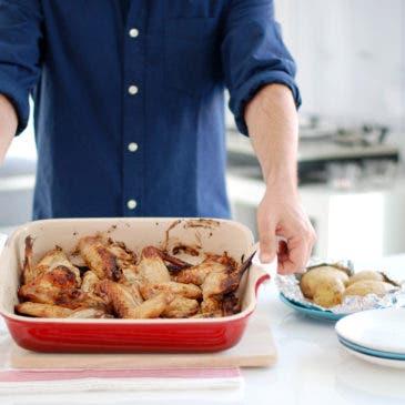 Alitas de pollo al horno y al limón