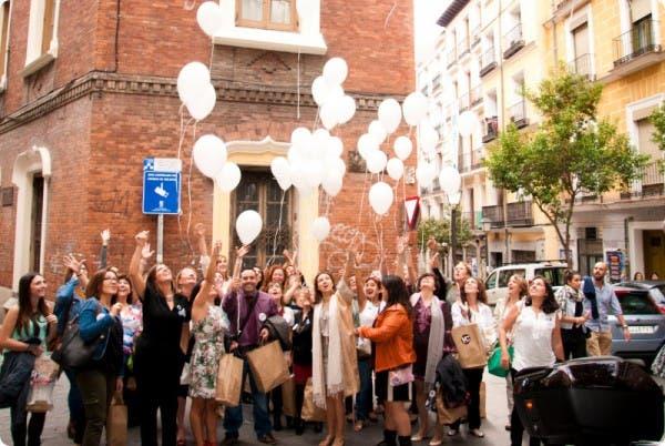 Suelta de globos en el encuentro #VC14