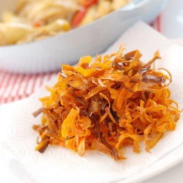 Chips de zanahoria, cómo se hacen