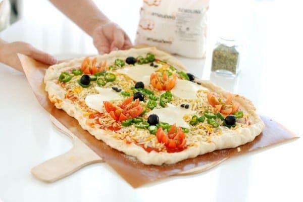 Pizza fantasma para Halloween