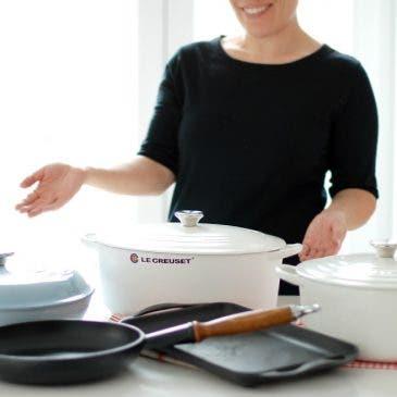 Menaje de cocina: cocottes, sartenes, planchas