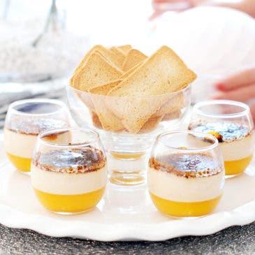 Creme Bruleé de foie fácil con mango