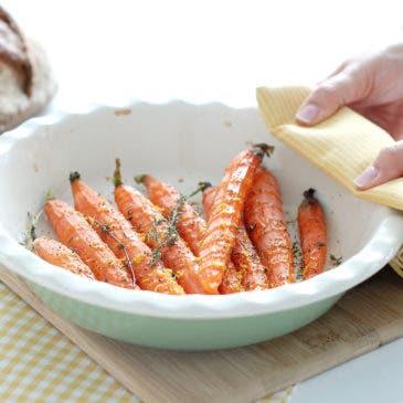 Zanahorias asadas con ralladura de limón