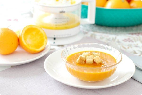 Crema de calabaza asada con naranja