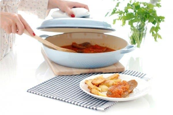 Lengua de ternera en salsa de tomate frito