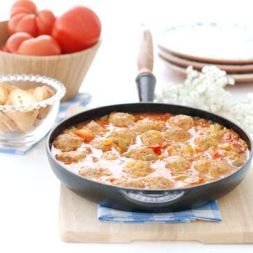 Albóndigas en salsa en Varoma