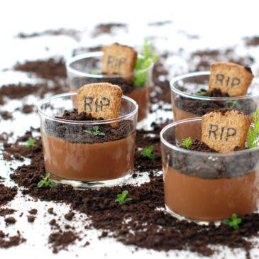 Cuajadas de chocolate para enterramientos