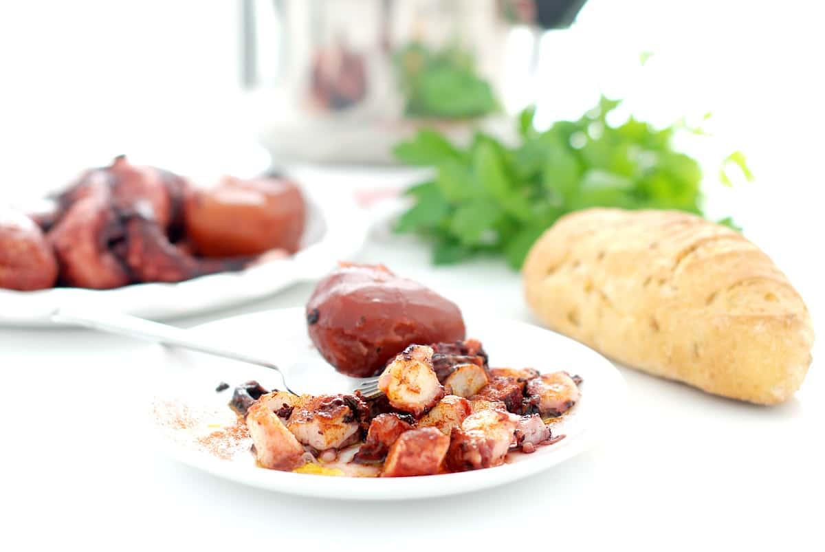 Pulpo a feira en 8 minutos con olla r pida velocidad cuchara - Patatas en olla rapida ...