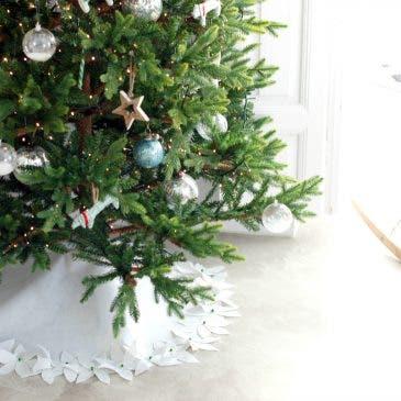 Alfombra de fieltro para el árbol de Navidad