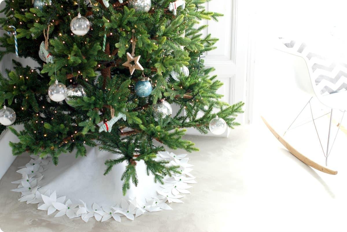 alfombra de fieltro para el rbol navidad