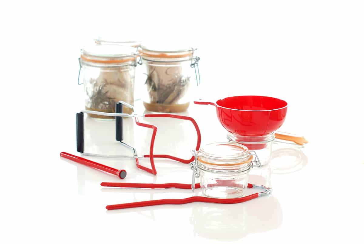 Kit para llenado de botes y recogida de envases pasteurizados, de Kitchen Craft®