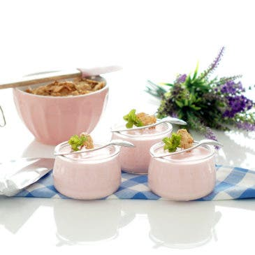 Petit suisse caseros de gelatina de fresa