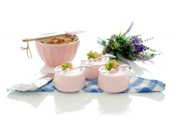 Petit suisse de gelatina de fresas, con Thermomix®