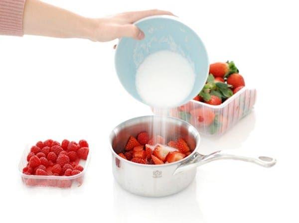 Salsa de frutos rojos antes de cocinar