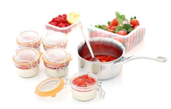 Salsa de frutos rojos, cocinada