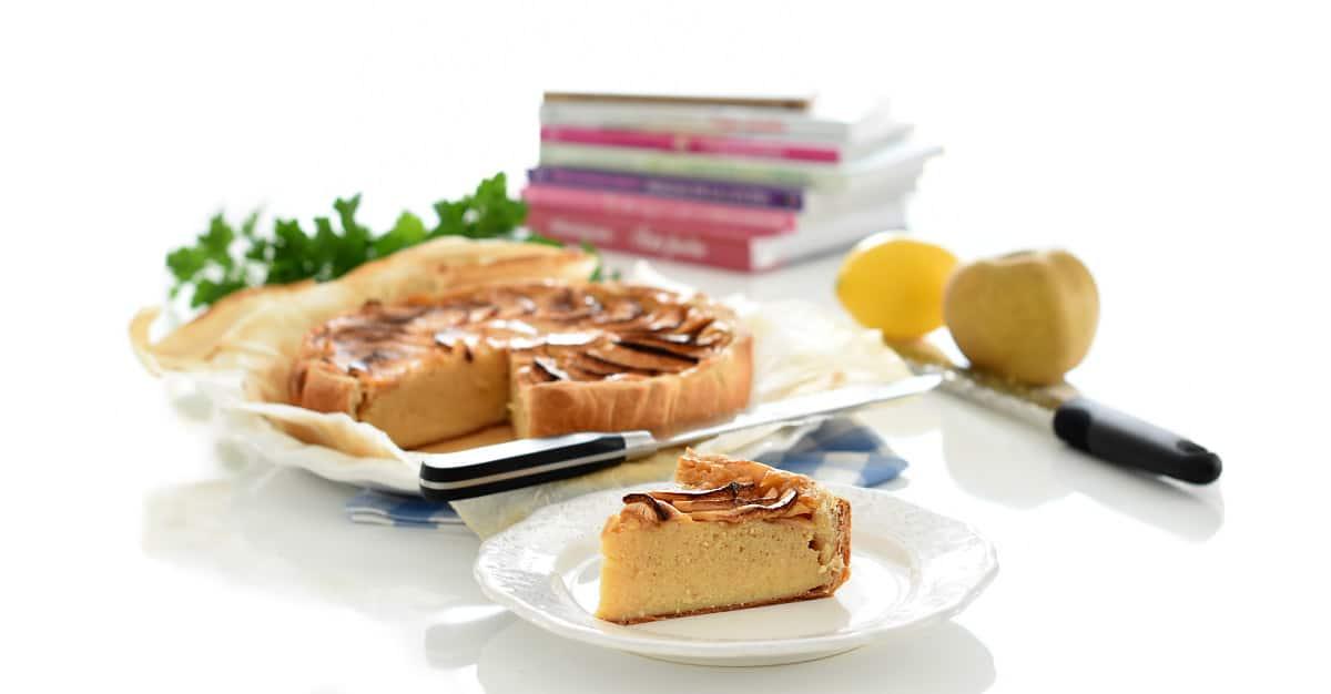 Tarta de manzana dentro de hojaldre con Thermomix®, el corte.