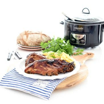 Costillas a la barbacoa en Crock-Pot®