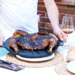 Pollo a la rana en la barbacoa