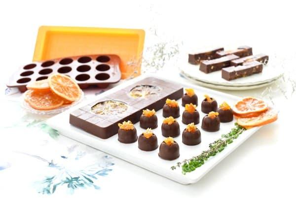 Turrón de chocolate y naranja con Thermomix®