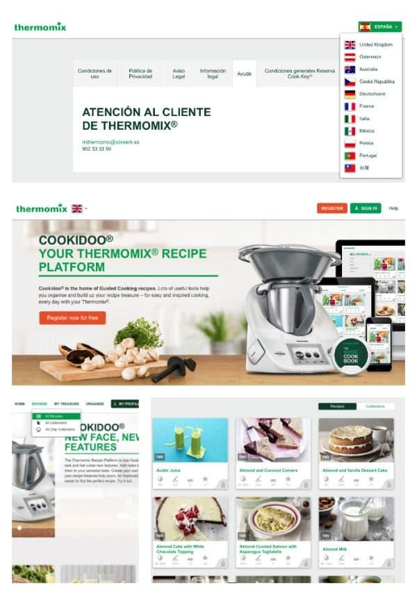Puedes ver recetas de todos los países donde se vende Thermomix®