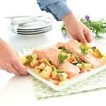 Salmón al vapor con verduras en el Varoma del Thermomix®