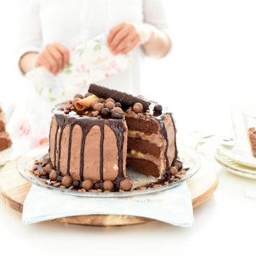 "Tarta de chocolate ""dripping cake"""