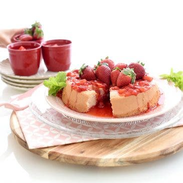 Angel Food Cake con fresas