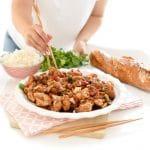 Pollo con verduras al estilo Cantonés