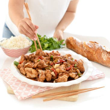 Pollo al estilo Cantonés con verduras