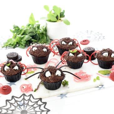 Magdalenas araña para Halloween