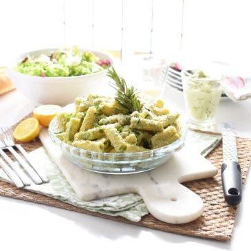 Pasta  con pesto de brócoli