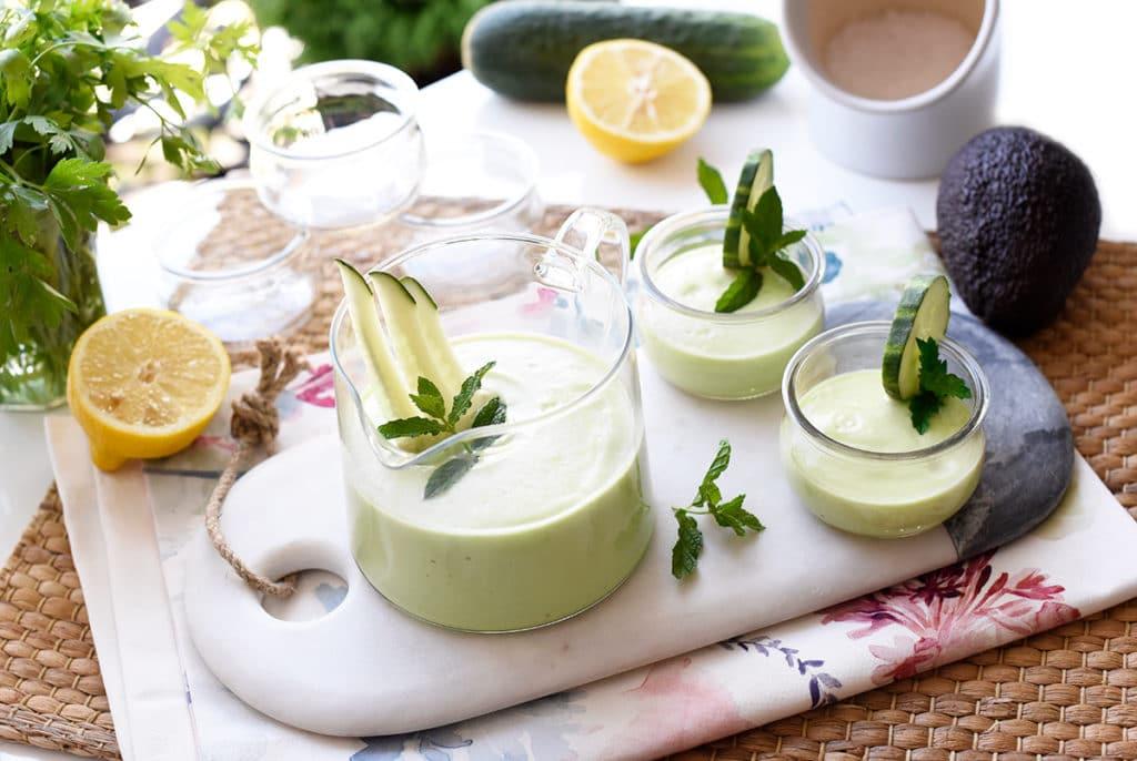 Crema fría de pepino y aguacate con Thermomix®