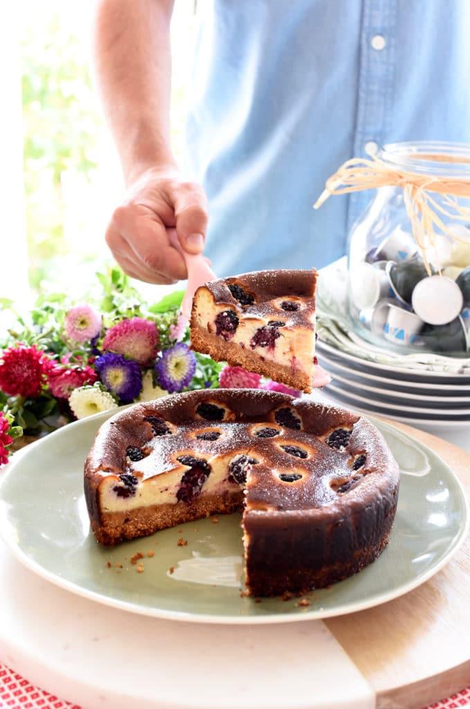 Una tarta de moras deliciosa