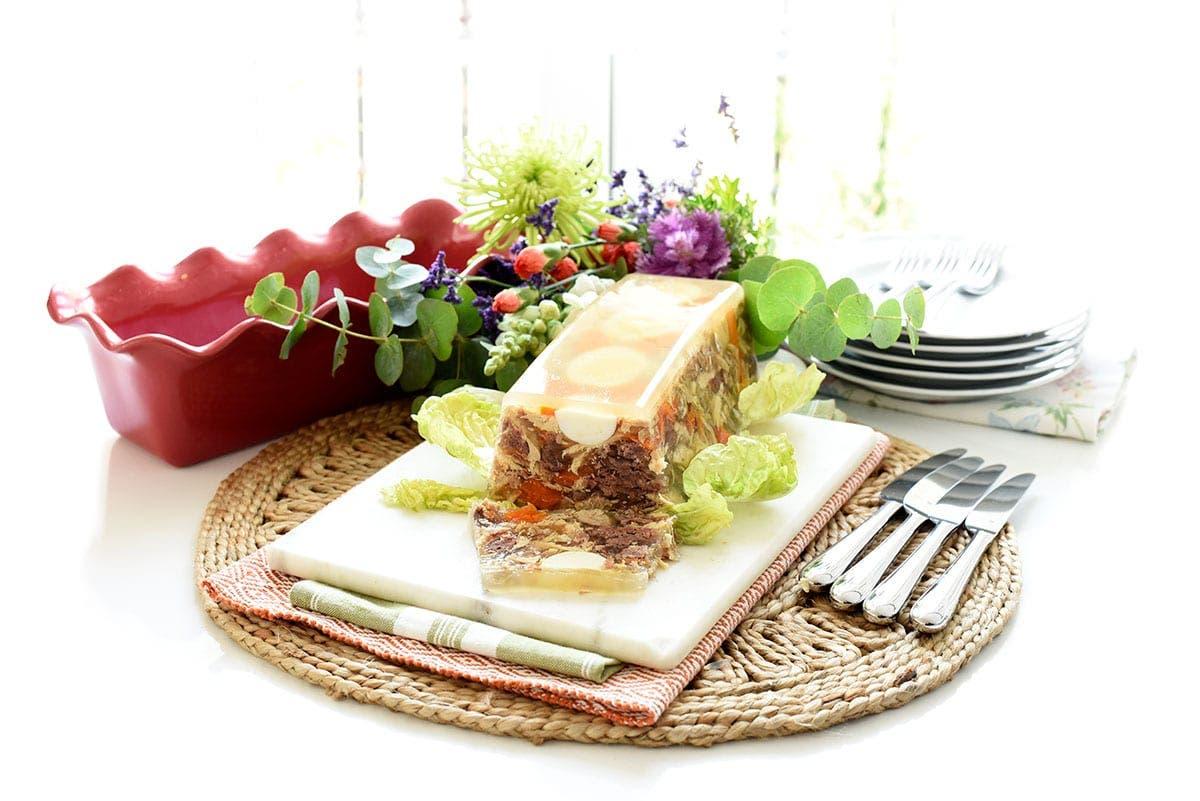 Aspic de carne con verduras