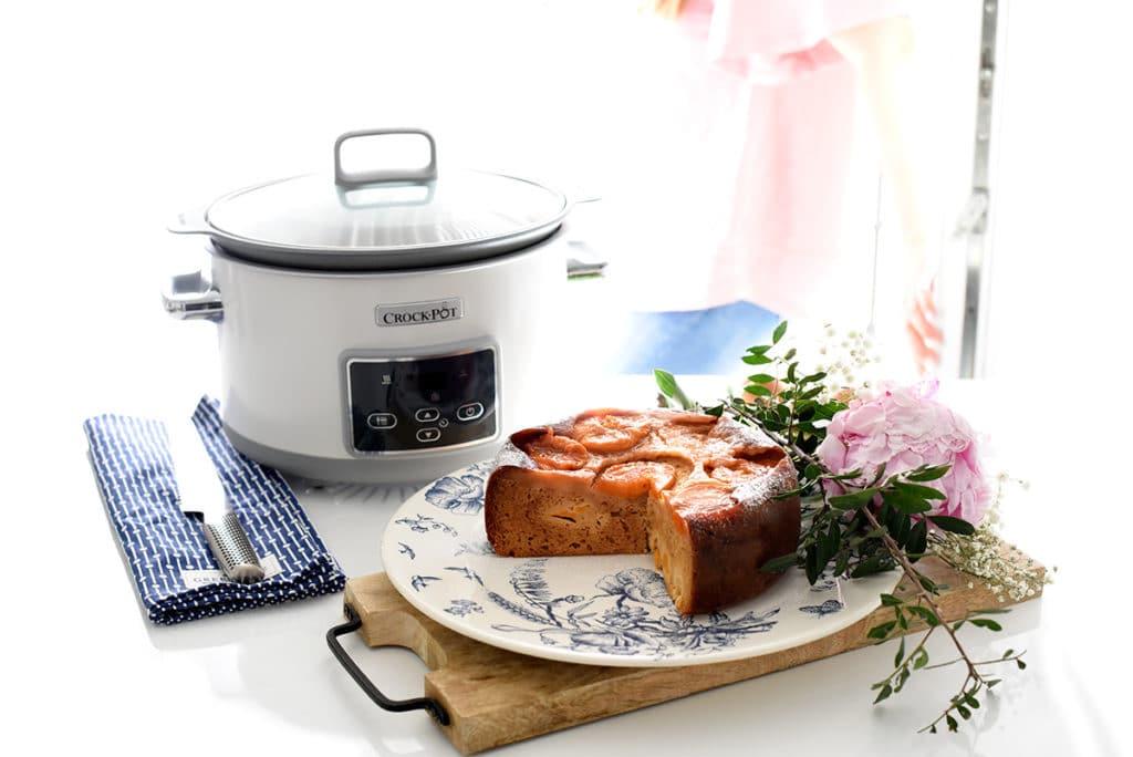 Cake de melocotón en Crock-Pot