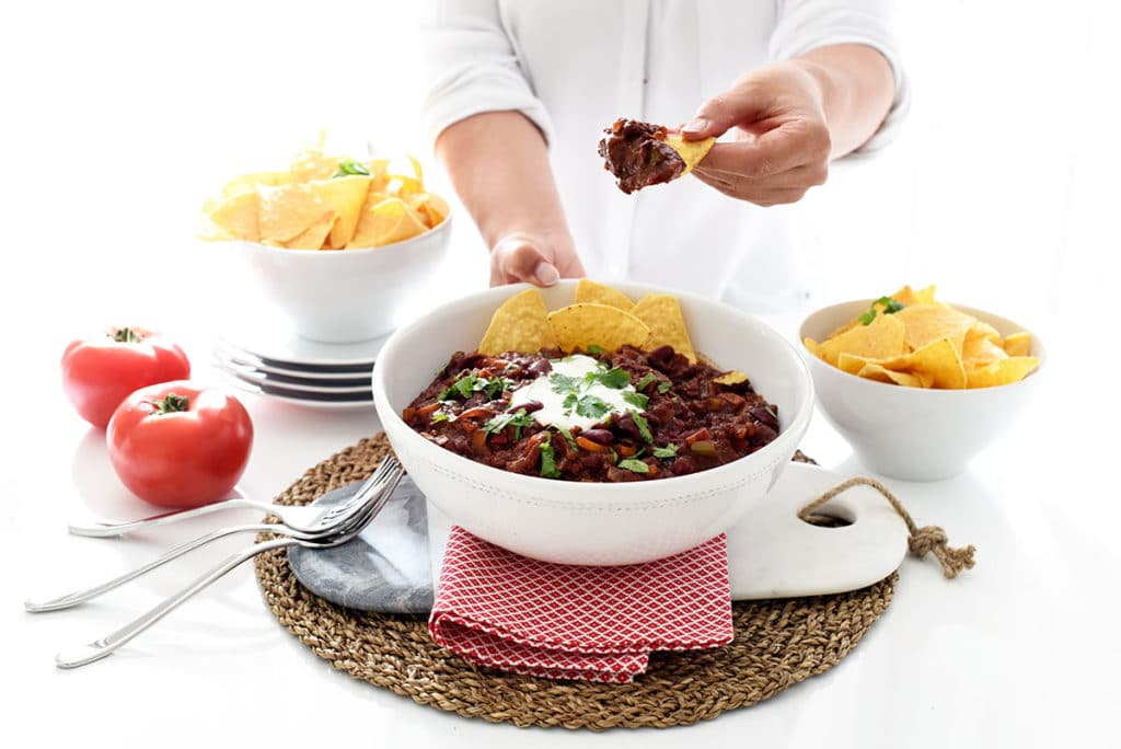 Chile vegetariano en CrockPot®