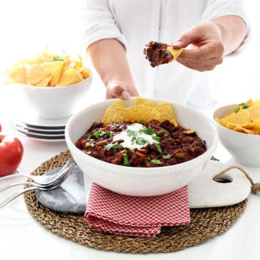 Chili vegetariano en Crock-Pot®