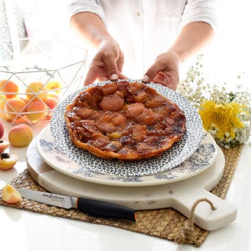 Tarta Tatín de albaricoques de Chicote
