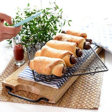 Hot dogs. Perritos calientes caseros